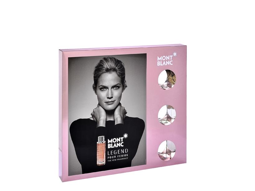 PLV vitrine - Legend pour femme de MontBlanc - Global Concept