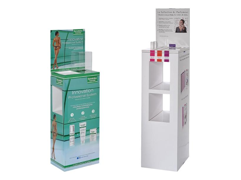 PLV meuble de sol pharmacie et cosmétique - Global Concept